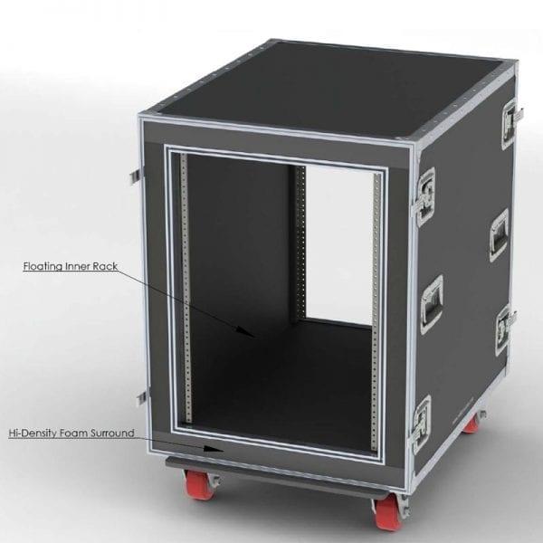 ATA Shockmount Shipping Case lab 80-588