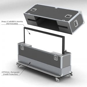 HDTV, Monitors & Video Wall Shipping Cases
