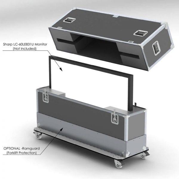 52-1388 Sharp LC-60LE831U LCD HDTV Shipping Case