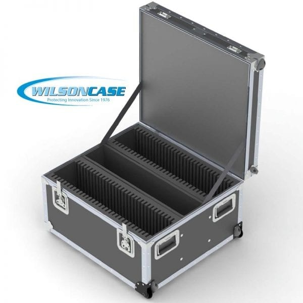 44-2713 iPad shipping case holds 60