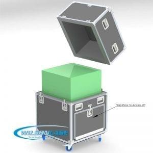 Custom Mechanical Lift Shipping Case for uPrint SE Plus 3D Printer