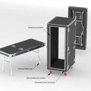 80-593 Custom shockmount shipping case