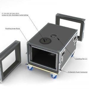 80-632 Custom shockmount case